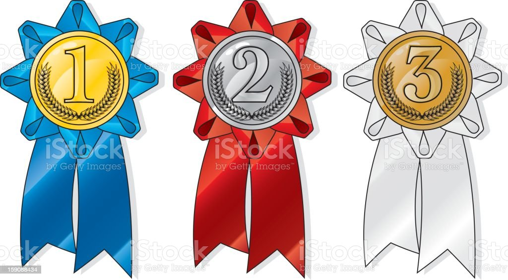 award ribbons vector art illustration
