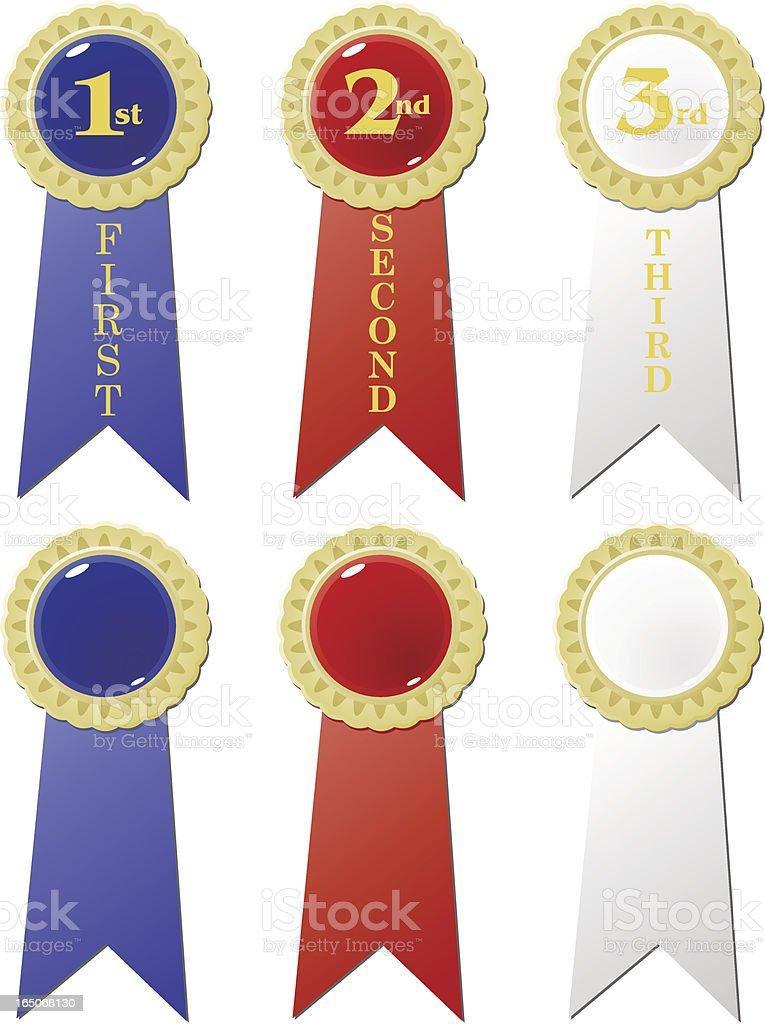 Prêmio de fitas - ilustração de arte em vetor
