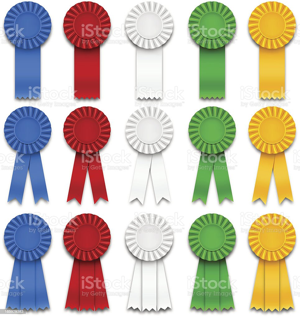 Award Ribbons royalty-free award ribbons stock vector art & more images of achievement