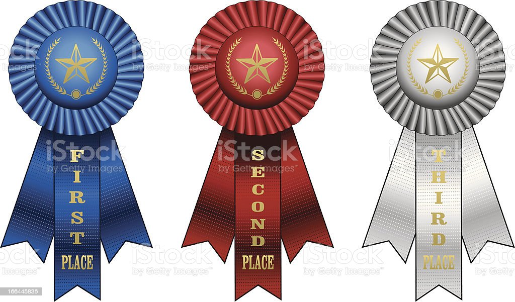 Award Ribbons royalty-free stock vector art