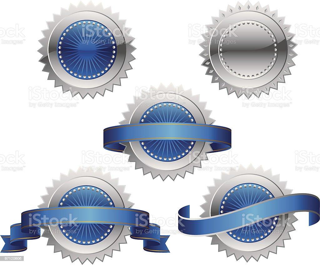 Award Rosette Medal - Seal vector art illustration