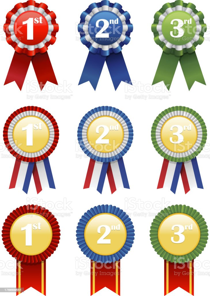 Award Set royalty-free award set stock vector art & more images of achievement