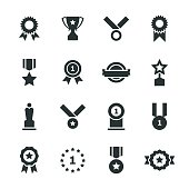Award Silhouette Icons Vector EPS File.