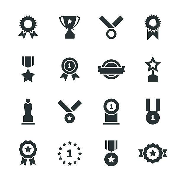bildbanksillustrationer, clip art samt tecknat material och ikoner med award silhouette icons - nummer 1