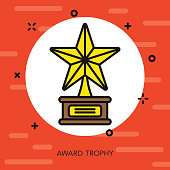 Award Thin Line Movie Icon