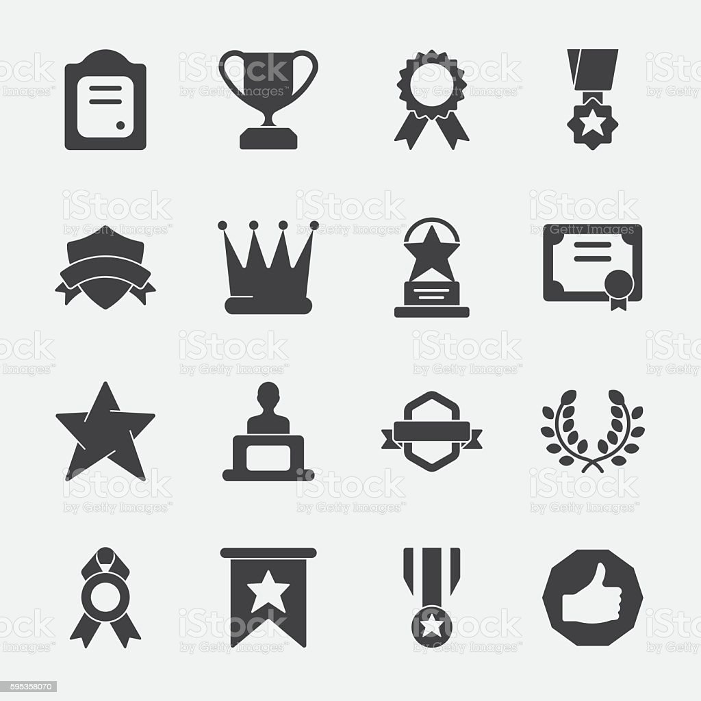 Award vector icon vector art illustration