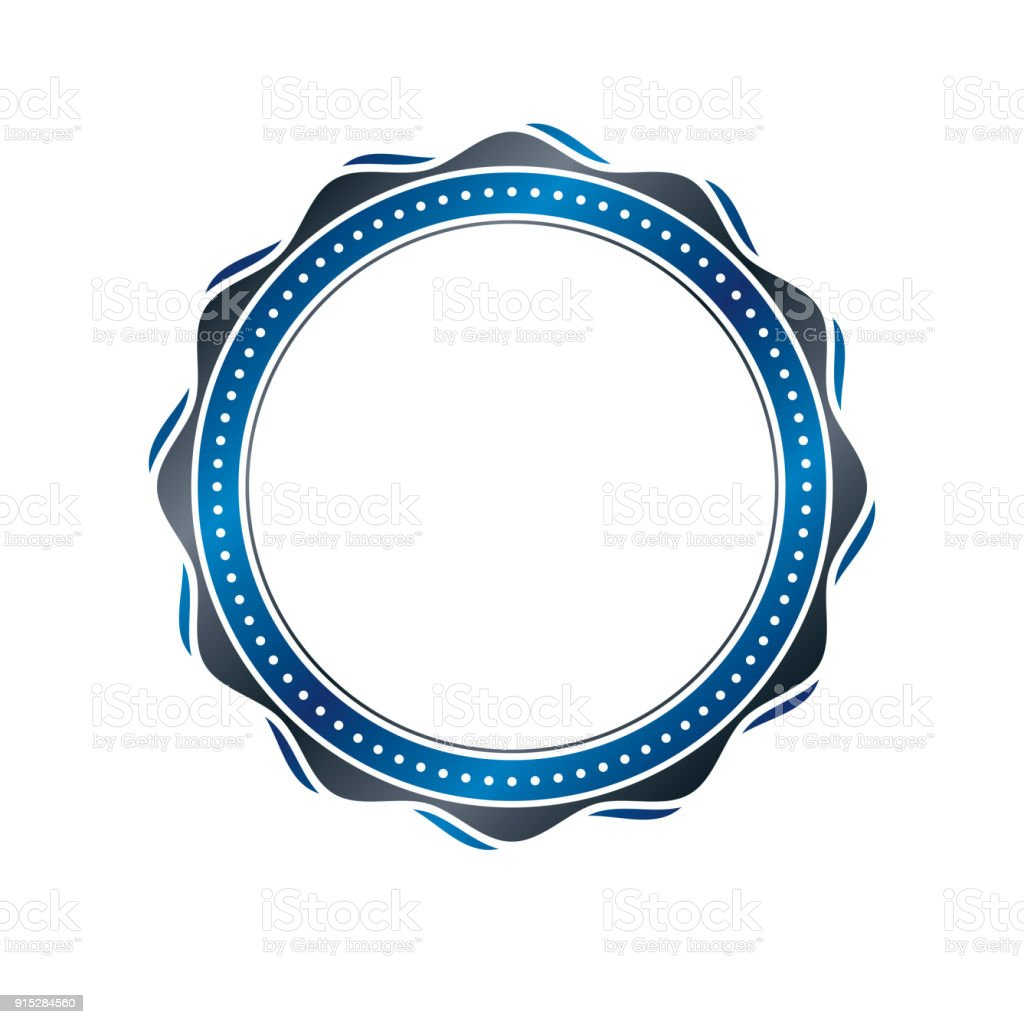 Premio Vintage Marco Circular Con Espacio De Copia Claro Como Diseño ...