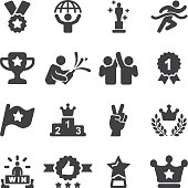 Award Winning and Success Silhouette Icons