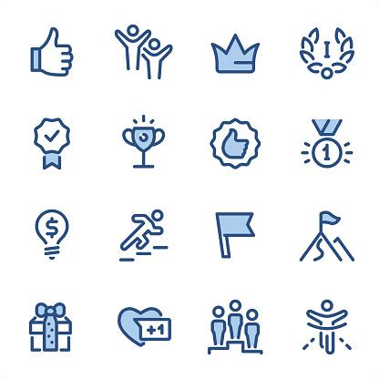 Award Winning - Pixel Perfect blue line icons