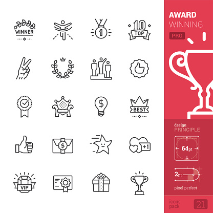 Award Winning related vector icons - PRO pack