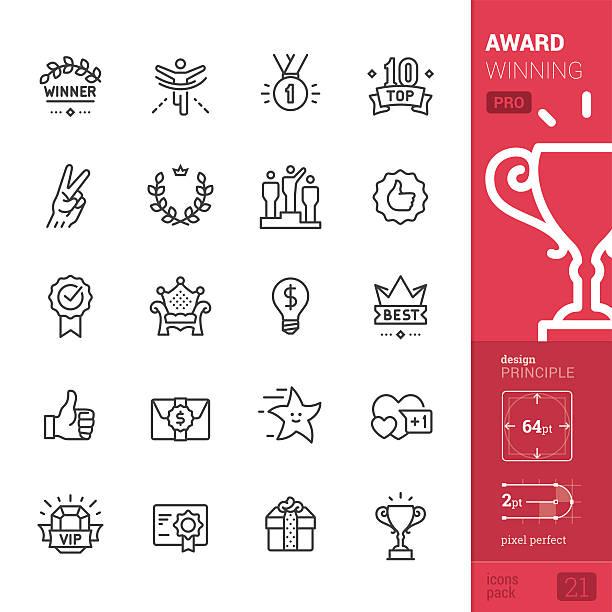 Award Winning related vector icons - PRO pack vector art illustration