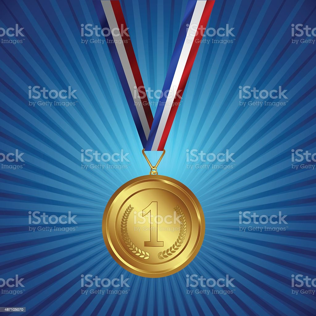 Award with Background vector art illustration