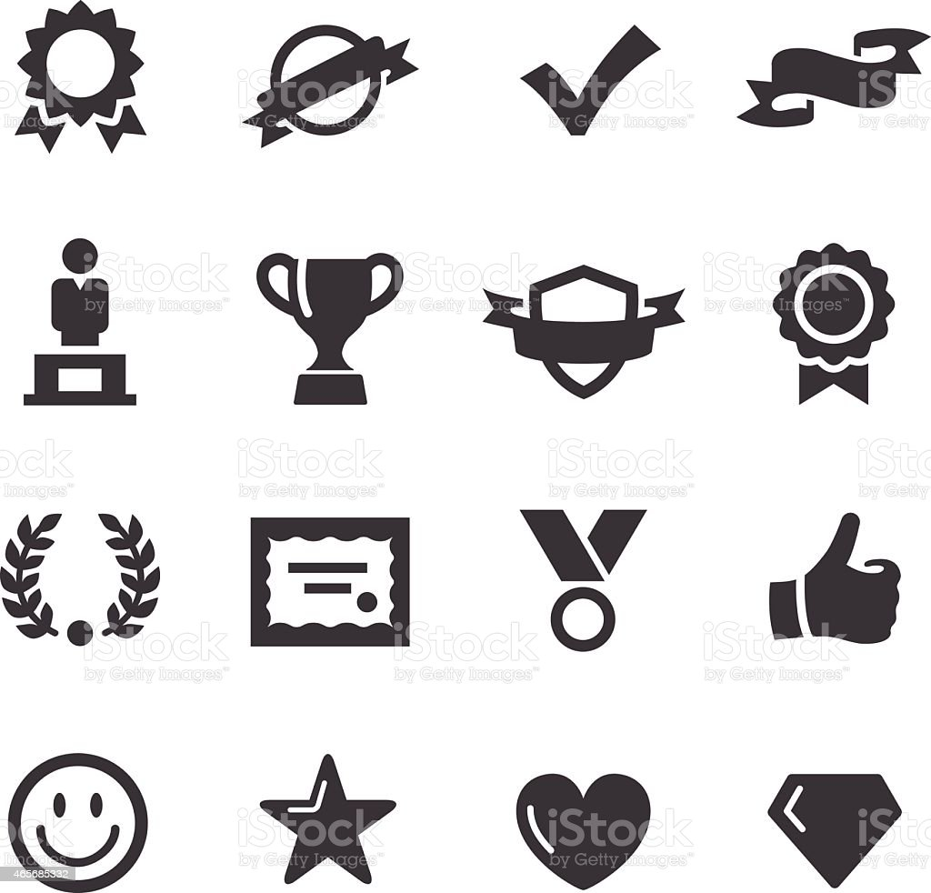 Awards and Prizes Icons - Acme Series vector art illustration