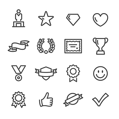 Awards and Prizes Icons - Line Series