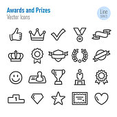 Awards and Prizes Icons - Vector Line Series