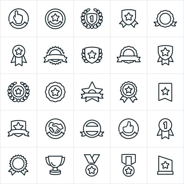 bildbanksillustrationer, clip art samt tecknat material och ikoner med utmärkelser, banners och tätningar ikoner - nummer 1