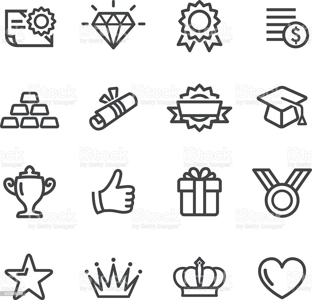 Awards Icons - Line Series View All: 2015 stock vector