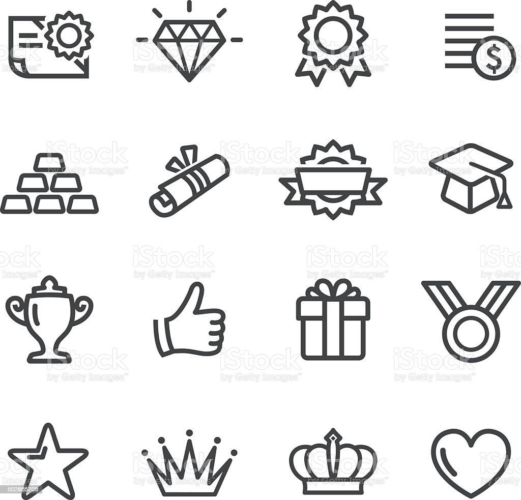 Auszeichnungen Icons-Line Serie – Vektorgrafik