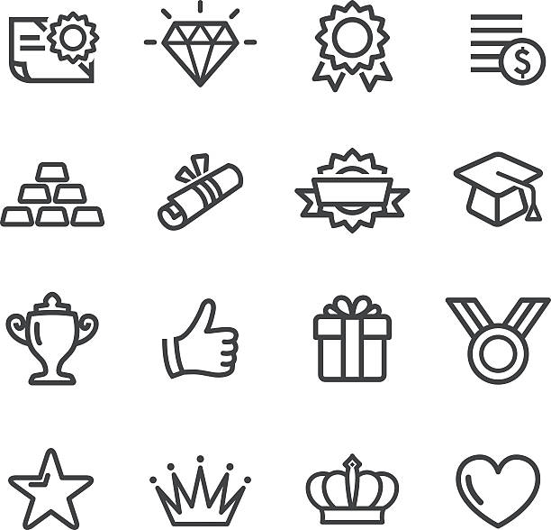 Awards Icons - Line Series View All: incentive stock illustrations
