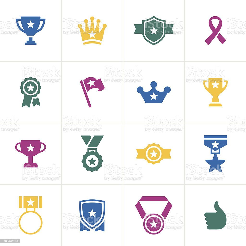 Awards Icons vector art illustration
