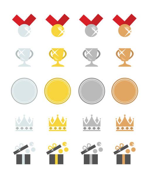 bildbanksillustrationer, clip art samt tecknat material och ikoner med utmärkelser i platina, guld, silver och brons - platina