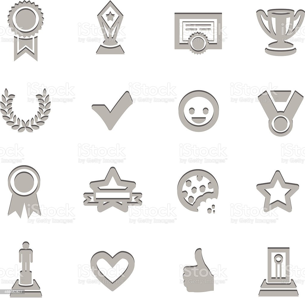 Awards & Prize Imprinted Symbols royalty-free stock vector art