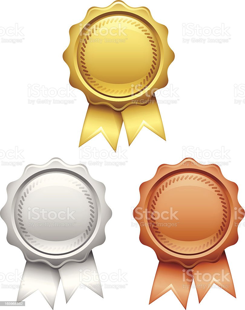 Awards vector art illustration