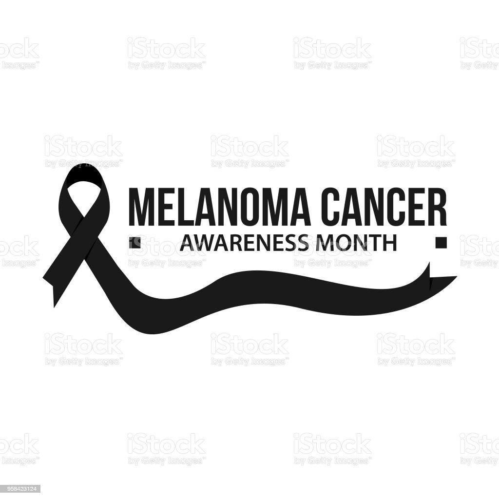 Awareness month ribbon cancer vector art illustration