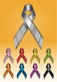 Awareness Movie Ribbons Vector