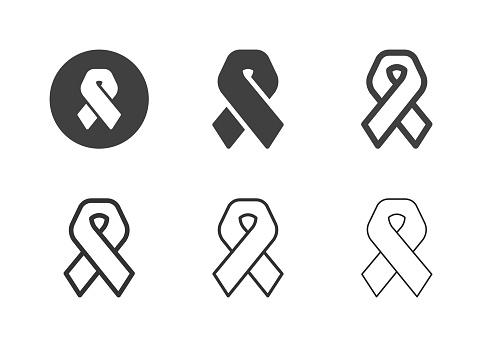 AIDS Awareness Ribbon Icons - Multi Series