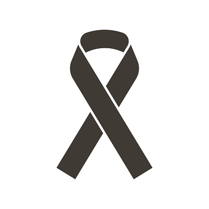 Awareness ribbon. Vector flat glyph icon illustration. Symbol for awareness of different diseases and support, raise consciousness for a cause