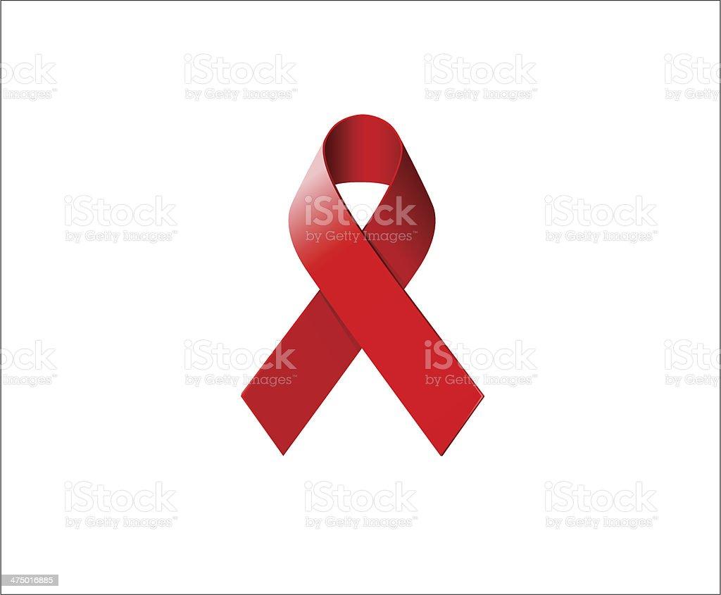 AIDS Awareness Ribbon vector art illustration