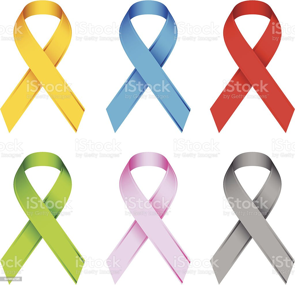 Awareness Ribbons vector art illustration