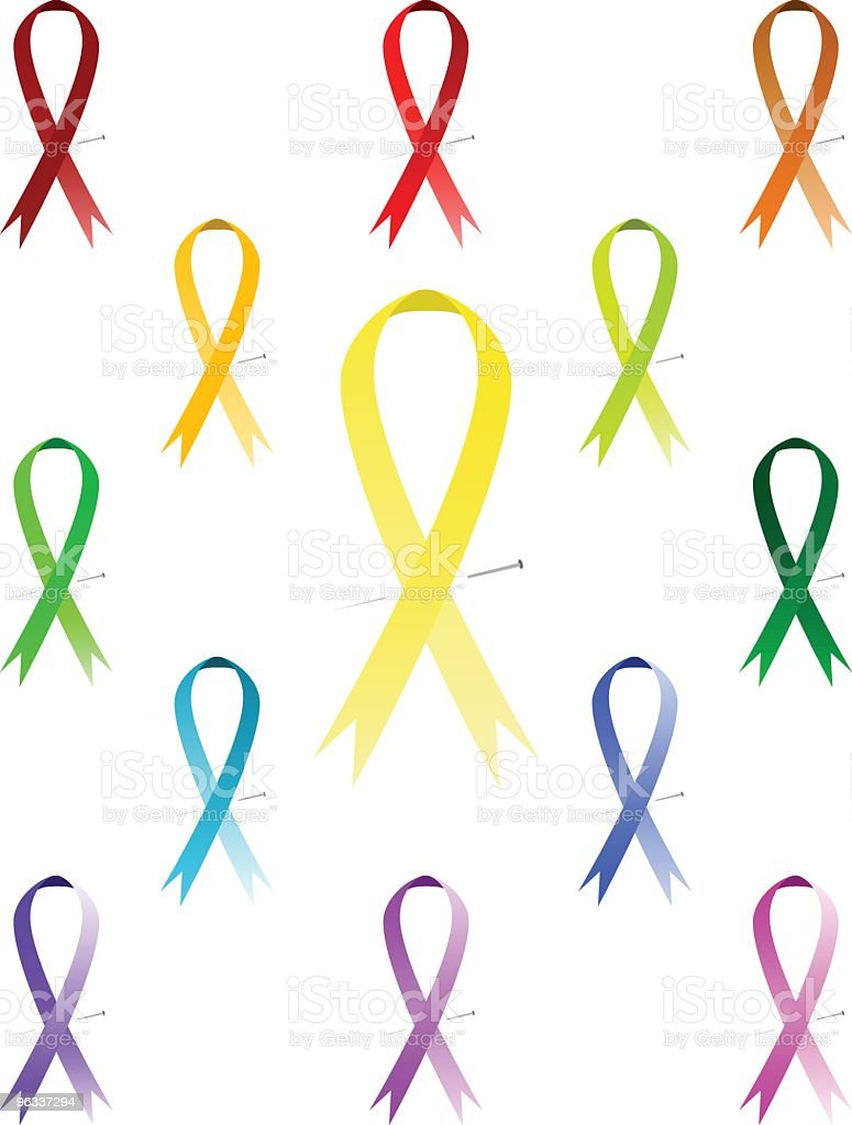 Awareness Ribbons ~ Vector royalty-free stock vector art