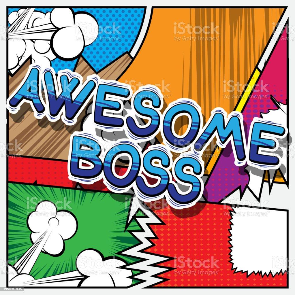 Awesome Boss vector art illustration