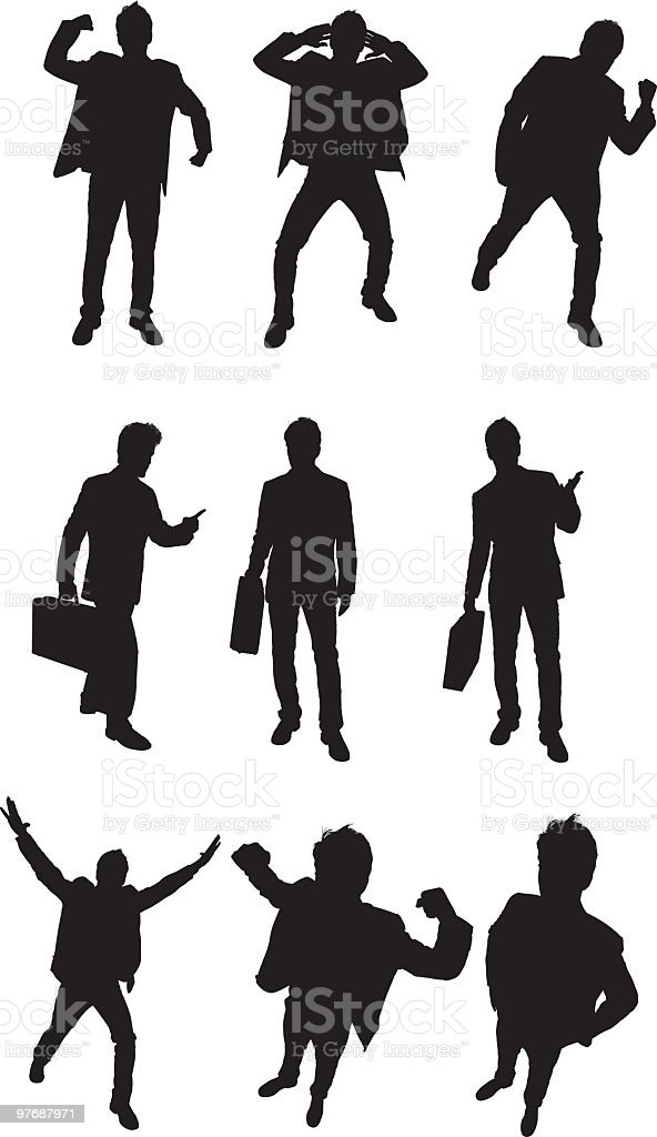 Awesome businessmen to use in your design royalty-free stock vector art