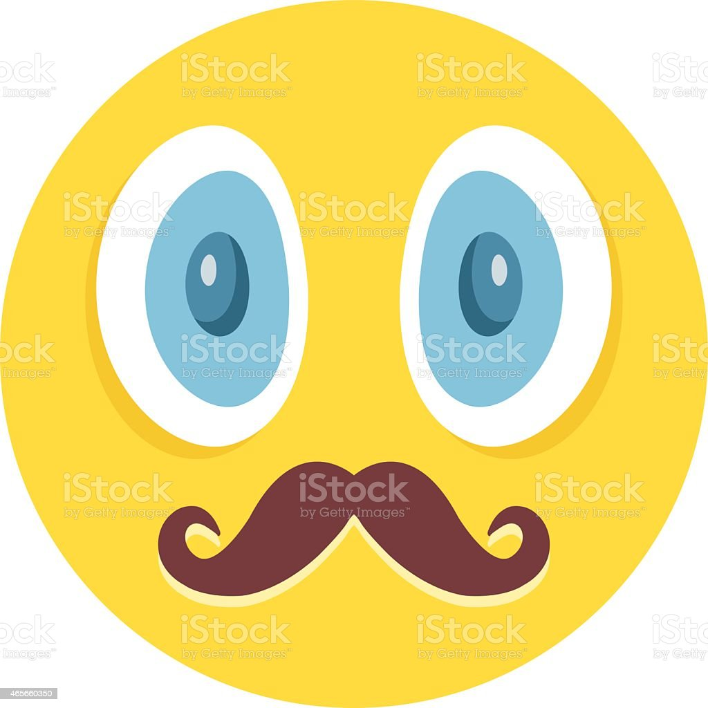 awesome emoticon with mustaches vector illustration royalty free awesome emoticon with mustaches vector illustration stock