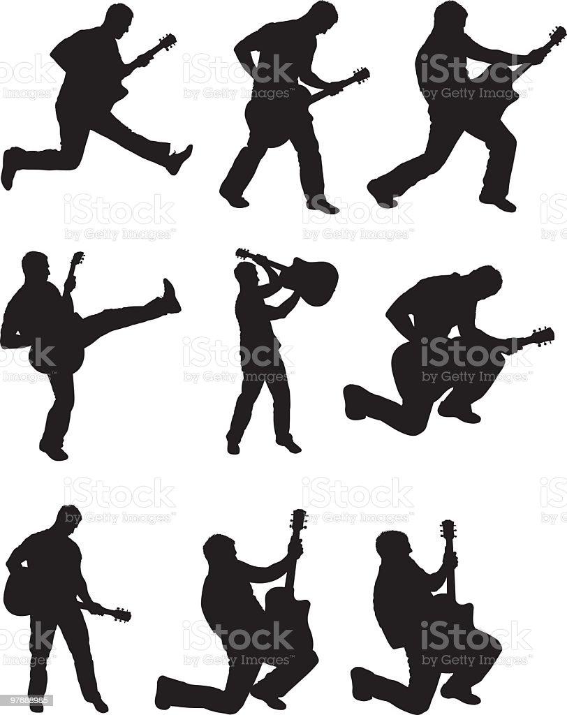 Awesome rock stars vector art illustration