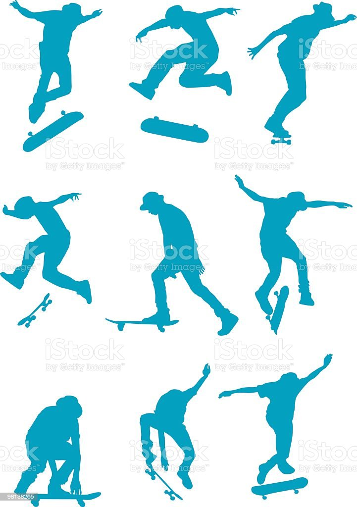 Awesome skaters to use in your design royalty-free awesome skaters to use in your design stock vector art & more images of adolescence