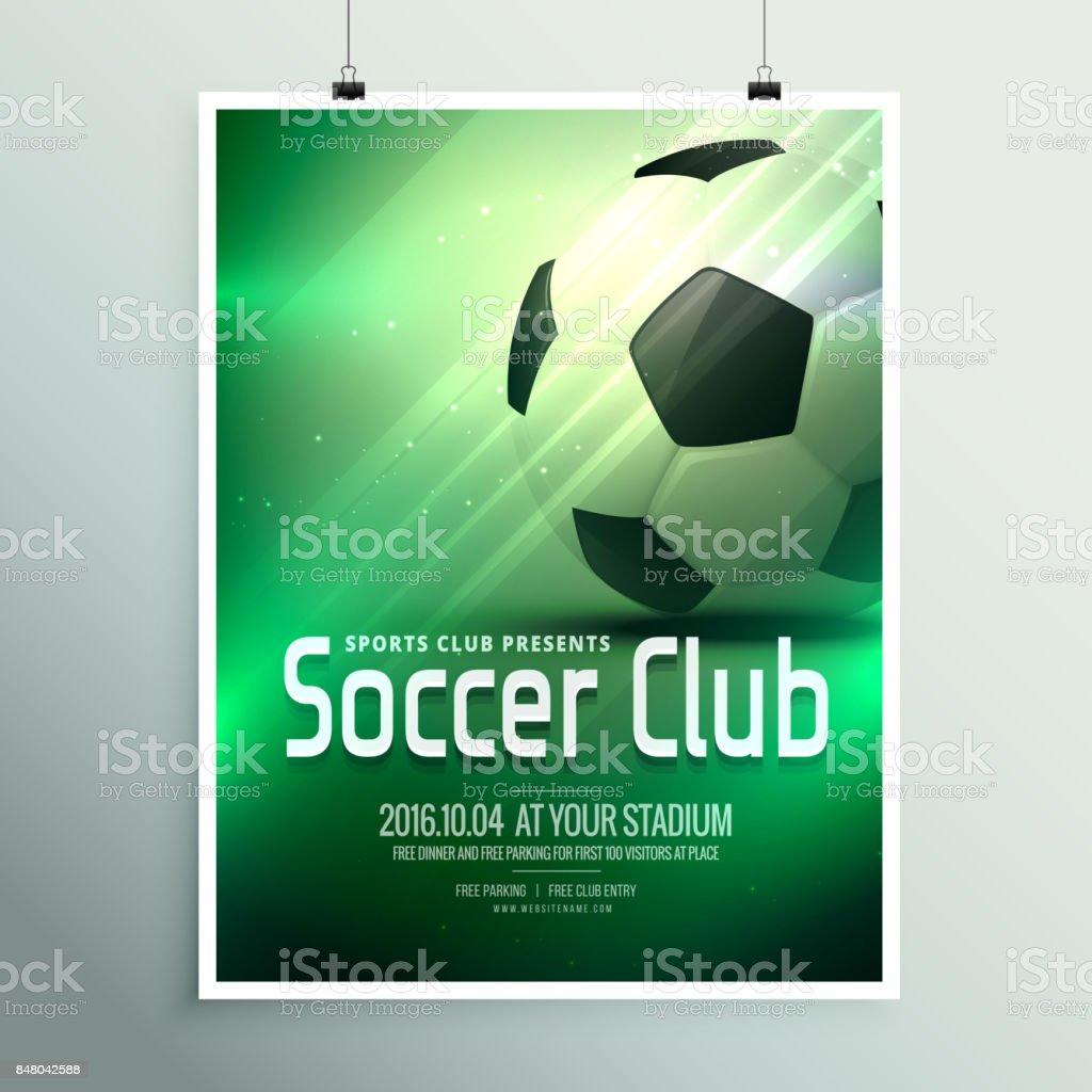 Super Sport Flyer Plakat Designvorlage Mit Dem Fußball In Grünen ...