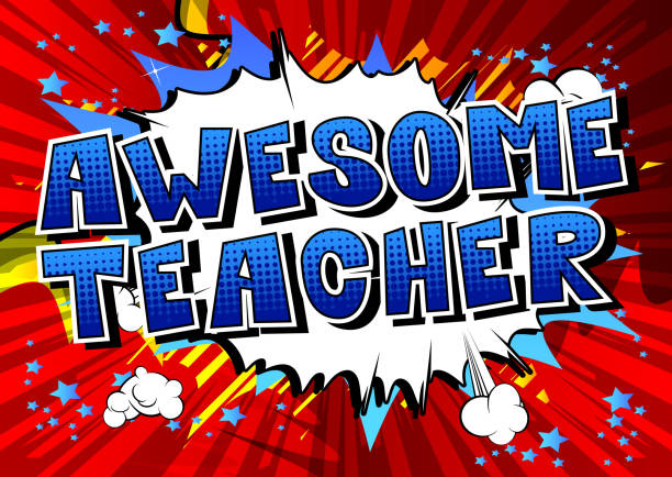 stockillustraties, clipart, cartoons en iconen met geweldige leraar - waardering