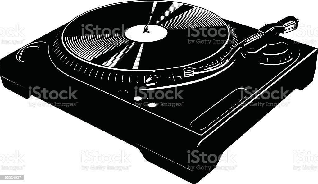 Awesome turntable vector art illustration