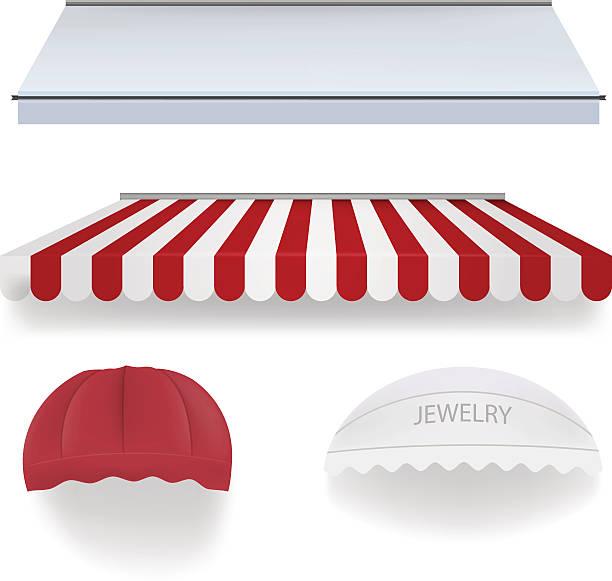 markisen für shop - dachzelt stock-grafiken, -clipart, -cartoons und -symbole