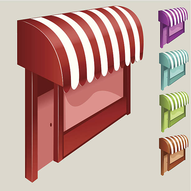 Awnings vector art illustration