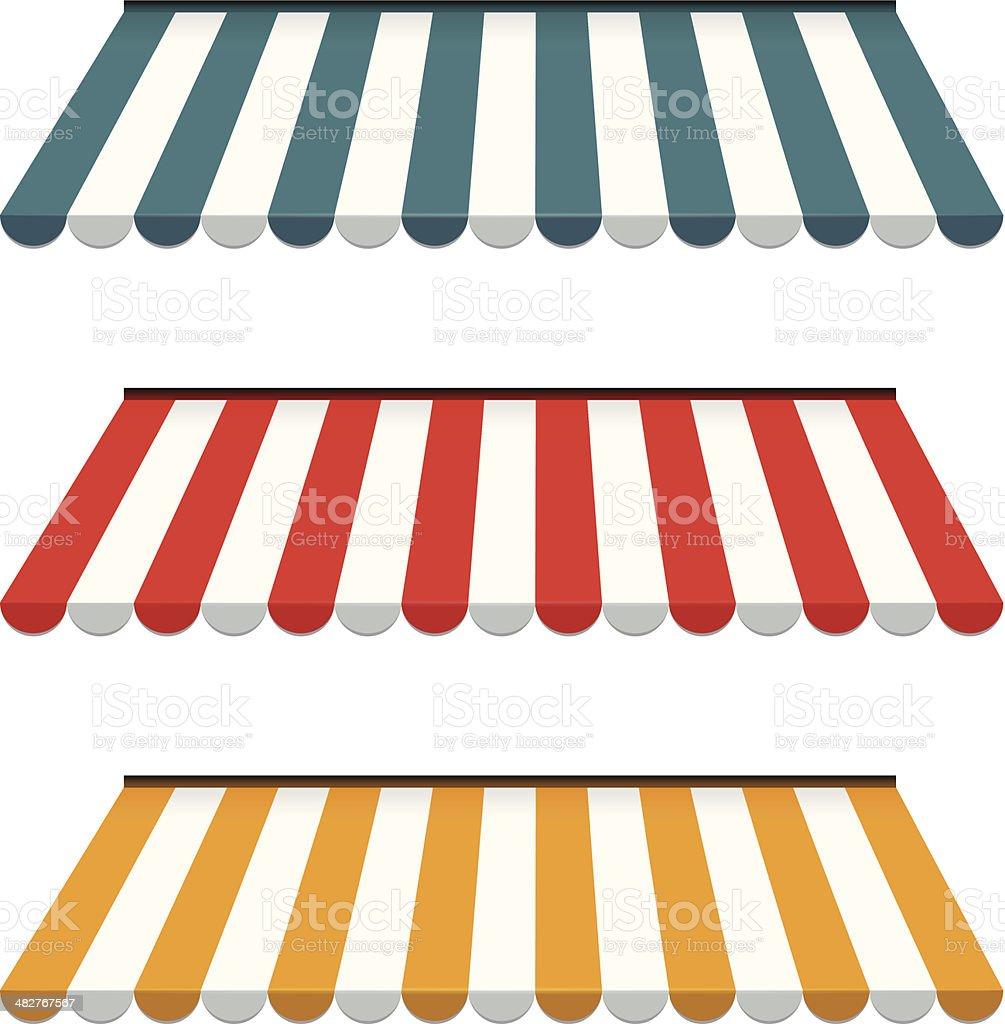 awnings vector art illustration