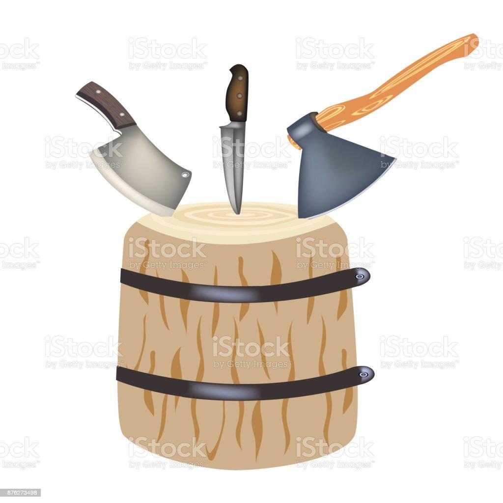 hache pour la viande hachette de cuisine pour la découpe de viande