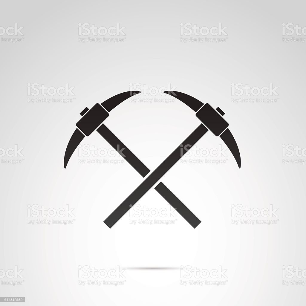 Axe icon isolated on white background. vector art illustration