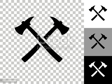 istock Axe Icon on Checkerboard Transparent Background 1224596485
