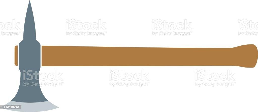 Axt-Vektor-illustration Lizenzfreies axtvektorillustration stock vektor art und mehr bilder von at-zeichen