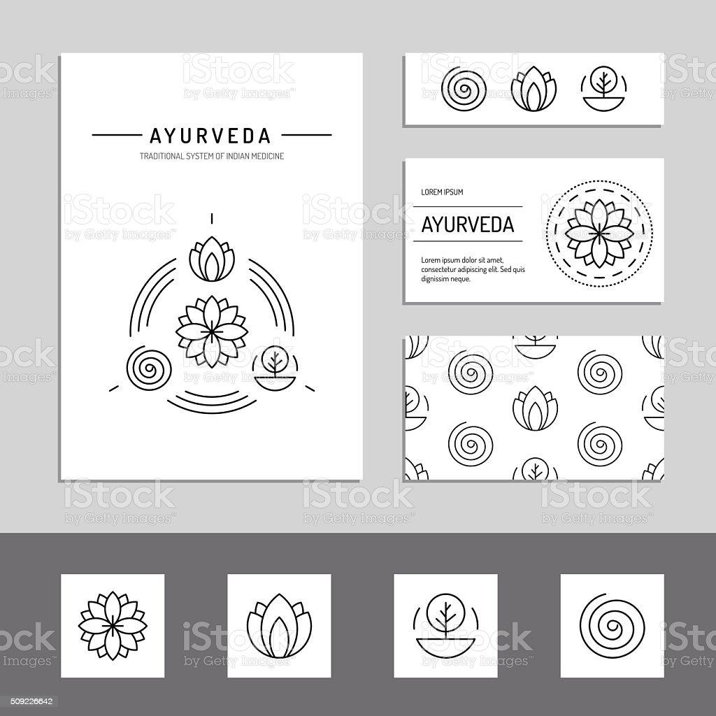 L'ayurvéda morphologies - Illustration vectorielle
